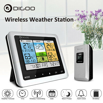 Digoo Thermometer Weather Station Pro Wireless Usb Outdoor Forecast Sensor Clock