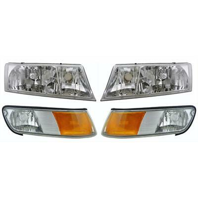 NEWMAR MOUNTAIN AIRE 2002-2004 37FT PAIR HEADLIGHTS HEAD LAMPS RV - 4PCS SET