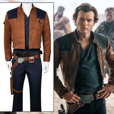 Han Solo Costume Shirt (Solo A Star Wars Story Han Solo Cosplay Costume Jacket Pants Shirt Suit)
