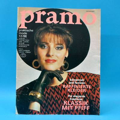 DDR Pramo 12/1988 Praktische Mode Schnittmuster T Kleider Jacken Röcke Klassik