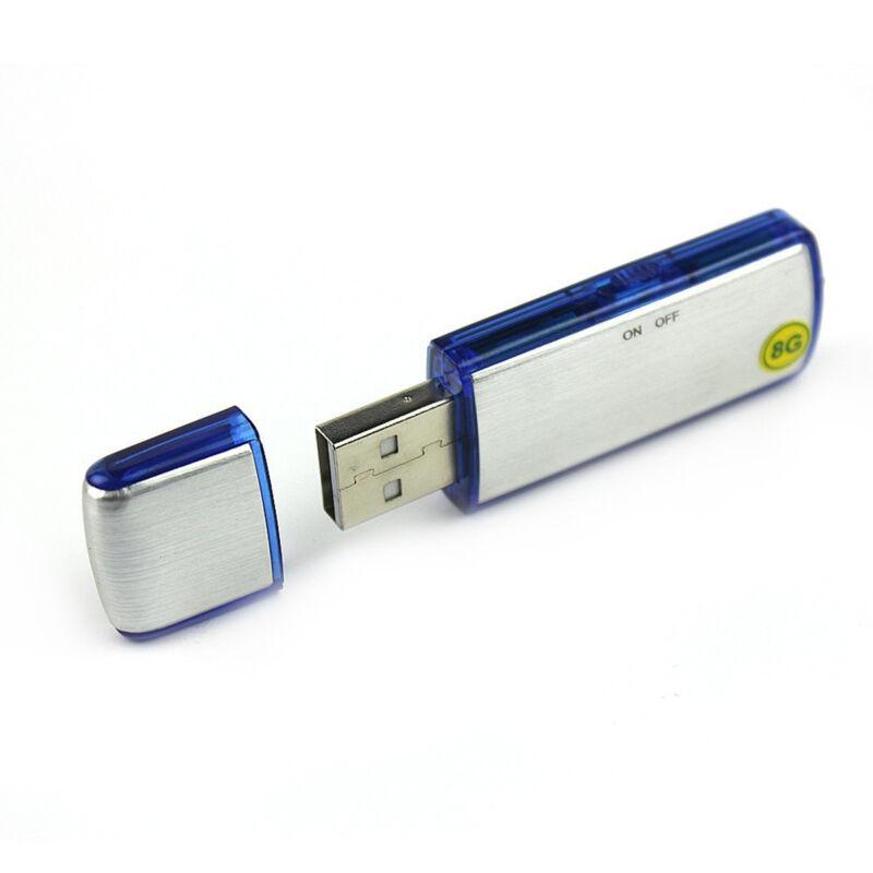 8GB PEN DRIVE REGISTRATORE VOCALE USB AUDIO RECORDER MICRO SPIA SPY CIMICE