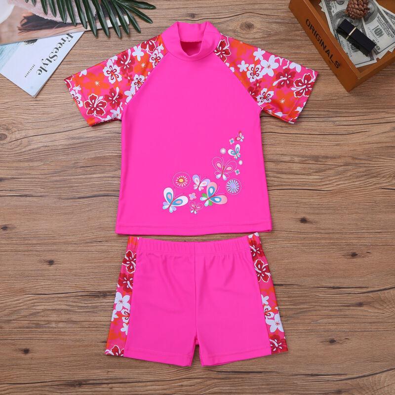 2b996a208fb31 Kids Girls UV 50+ Sun Safe Swimsuit Swimwear Baby Surf Diving Swimming  Costume