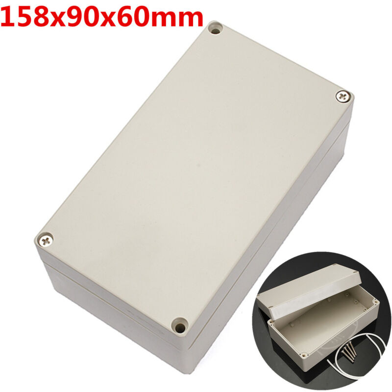 """ABS PLASTIC ELECTRONICS PROJECT BOX ENCLOSURE HOBBY CASE SCREW IP65 6.2x3.5x2.3"""""""