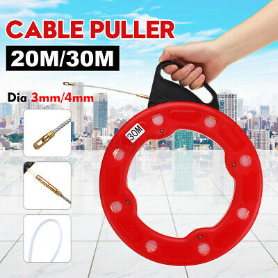 20m 3mm Fish Tape Puller Wire Nylon Tape Flexible Nylon Conduit Pulling Cable