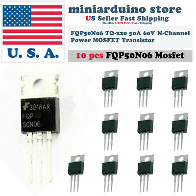 10pcs Fqp50n06 Transistor Power Mosfet N Channel 60v 50a 50n06 Fairchild New Usa
