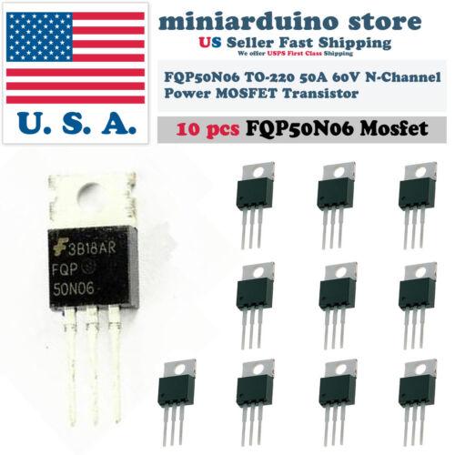 10pcs FQP50N06 Transistor Power MOSFET N Channel 60V 50A 50N06 Fairchild NEW USA