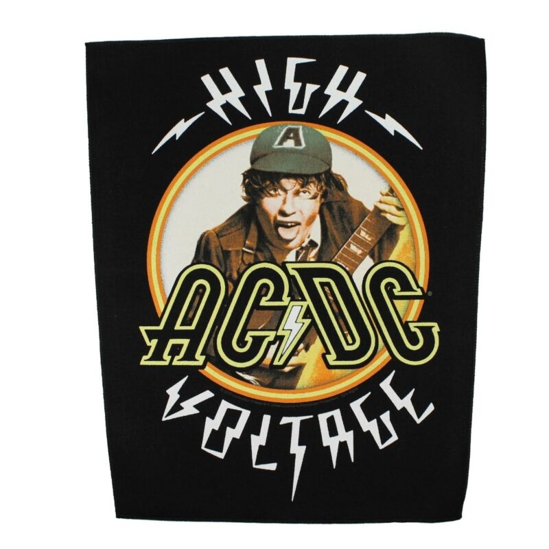 XLG AC/DC High Voltage Back Patch Angus Young Rock Band Jacket Sew On Applique