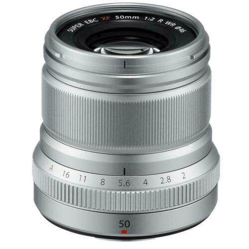Fujifilm Fujinon XF50mmF2 R WR Midrange Telephoto Lens for Fujifilm X-Mount System Cameras Silver 16536623