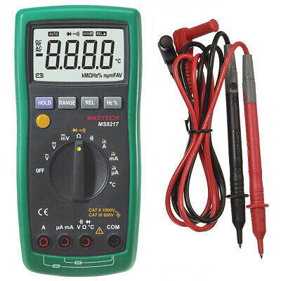 Mastech Ms8217 Acdc Auto Ranging Digital Multimeter With 4000 Counts