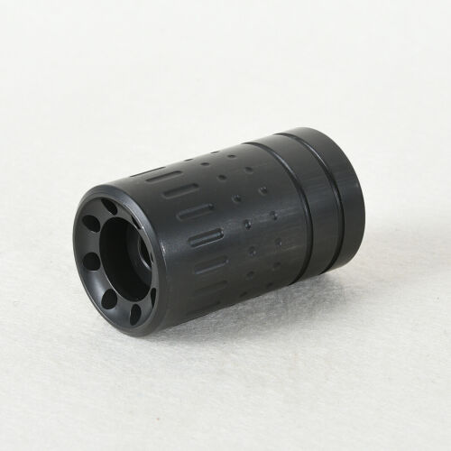 Steel Black Muzzle Brake 1/2x28 + 15/16-28 Sound Sleeve  for .223/5.56 W/Washer