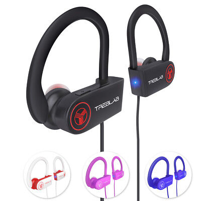 TREBLAB XR100 Bluetooth Sport Headphones Best Wireless Earbuds for Running
