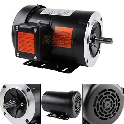 1.5 Hp Electric Motor 3 Phase 56c Frame 3600 Rpm Tefc 230 460 Volt New