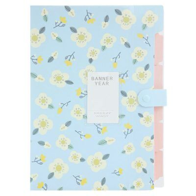 Skydue Floral Printed Accordion Document File Folder Expanding Letter Organ I6T4