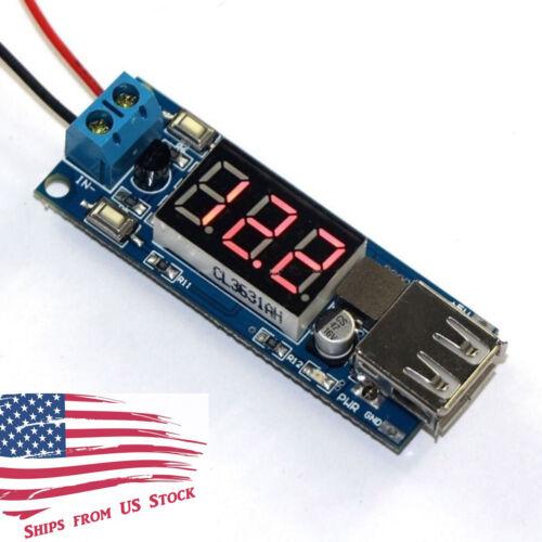 2 in 1 4.5V-40V Voltmeter & 5V USB Charger Step-Down Buck Power Converter Module