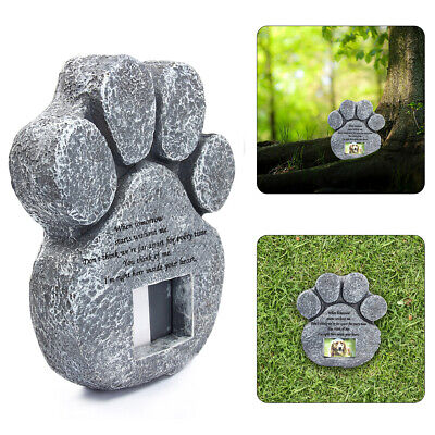 US Post Paw Print Stone Dog Cat Pet Memorial Grave Maker Tombstone For 2 Choice