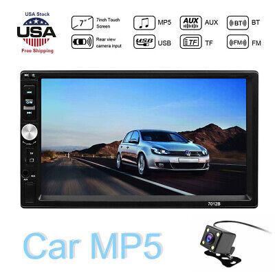 "7"" HD 2 DIN Bluetooth Touch Screen Car Stereo Radio MP5 Player FM/USB/TF +Camera"