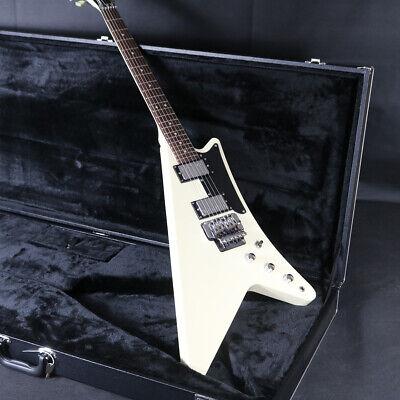 High Quality Fanned Electric Guitar Floyd Rose Bridge Black Hardware White Color