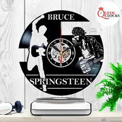 Bruce Springsteen Vintage LP Vinyl Record Wall Clock Music Fans Gift Home Decor