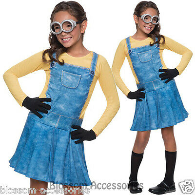 CK429 Female Minion Despicable Me 2 Girls Child Fancy Dress Up Costume Outfit (Despicable Me Dress Up)