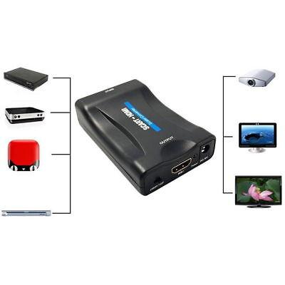De Convertidor Euroconector Para HDMI Adaptador Vídeo Audio Estéreo TV 1080P HD