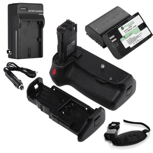 BG-E14 Battery Grip For Canon EOS 70D 80 + 2 LP-E6 Batteries + Charger + Remote