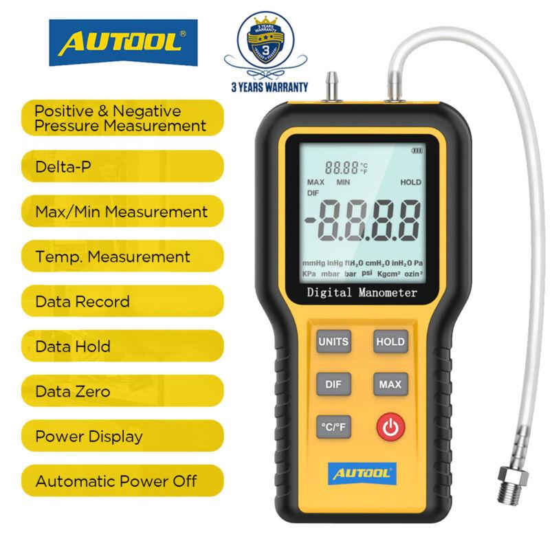 Pre-order Manometer Dual Port Air Pressure Meter HVAC Gas Pressure KPA ±2.999 Ps