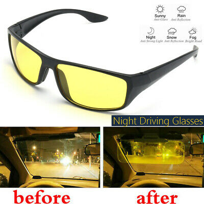 Unisex Night Driving Glasses Anti Glare Night Vision Driver Safety UV (Glasses Uv Protection)