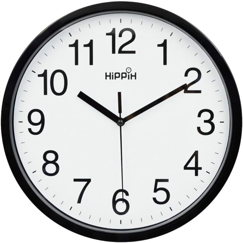 Large Wall Clock Silent Indoor Outdoor Battery Powered Analog Office Home School