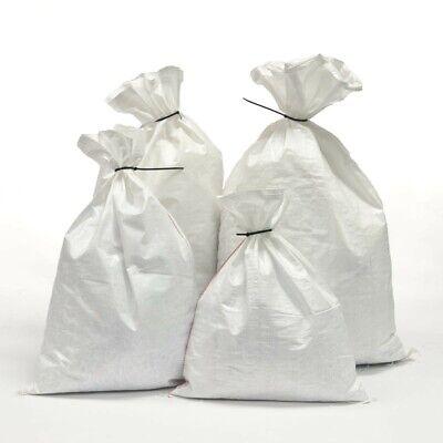 20 x Large Woven Heavy Duty Rubble Sacks Bags Reusable Sandbags 55 x 85cm 75kg