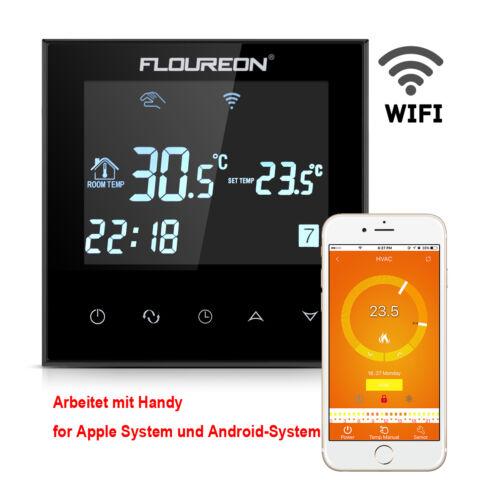 1 10stk wifi digital funk thermostat fu bodenheizung. Black Bedroom Furniture Sets. Home Design Ideas