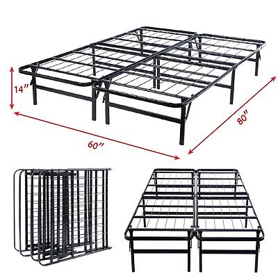 Foldable Frame No Box Spring Needed Mattress Foundation Quee