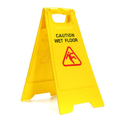 Plastic Caution Wet Floor Folding Safety Sign Cleaning Slippery Warning 2 Side ()