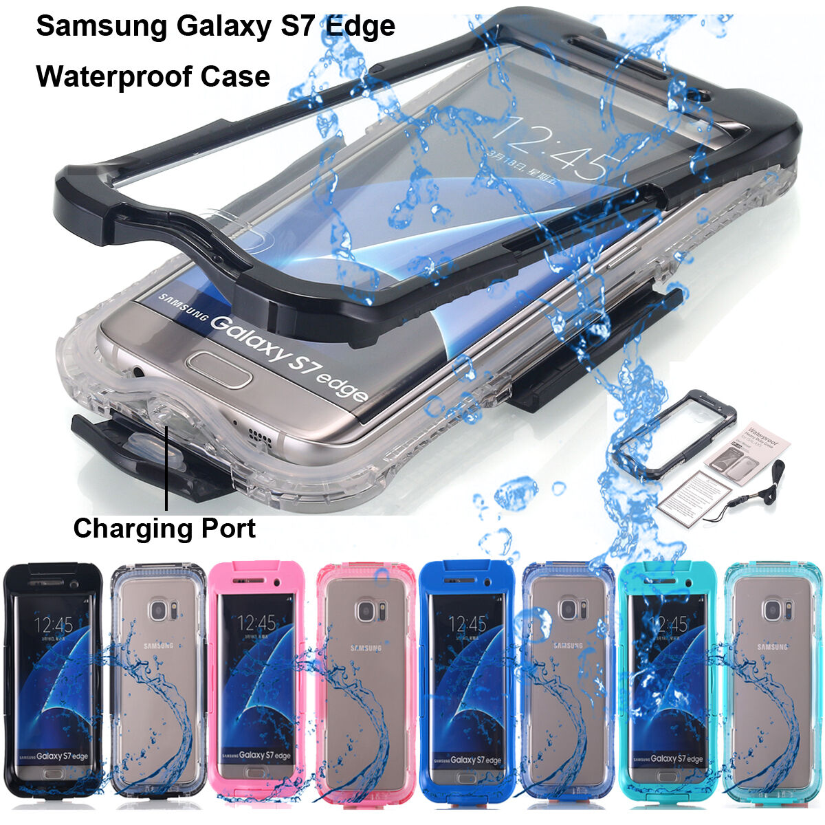 cheap for discount c9da0 97ed6 Details about for Samsung Galaxy S7 Edge/ S8+ Shockproof Waterproof Dirt  Proof Case Full Cover