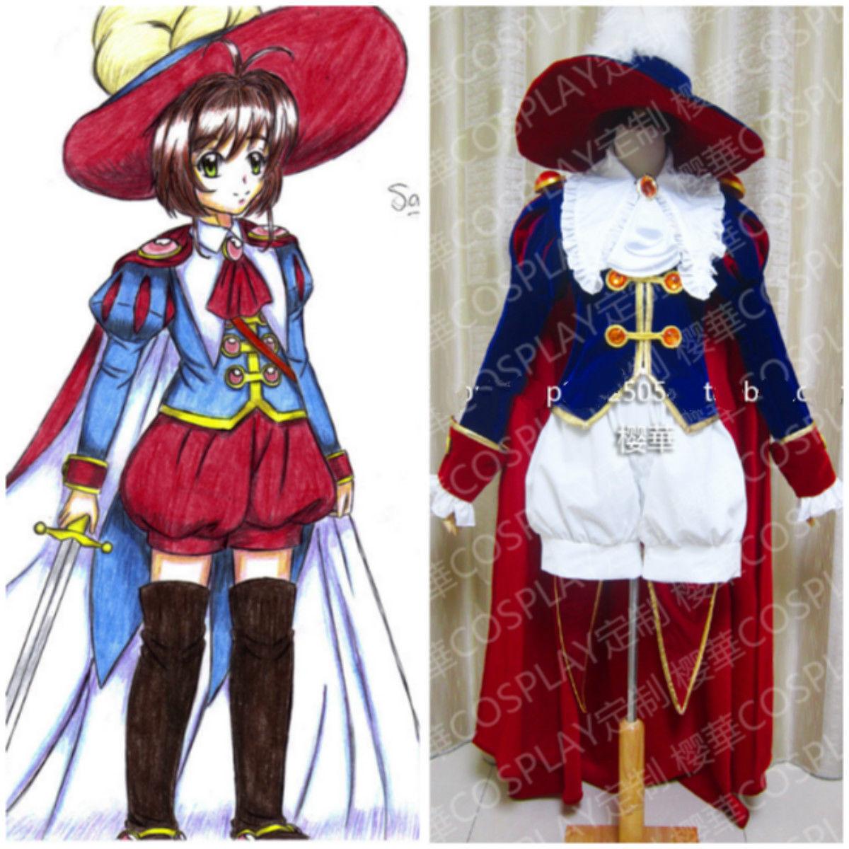 Custom Cardcaptor Sakura KINOMOTO SAKURA Prince uniform cosplay costume