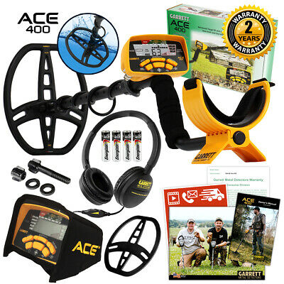 Garrett Ace 400 Metal Detector With 8.5 X 11 Dd Waterproof Coil 3 Accessories