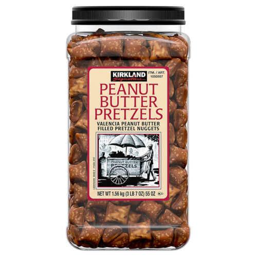 Kirkland Signature Peanut Butter Filled Pretzel Nuggets, 55 oz