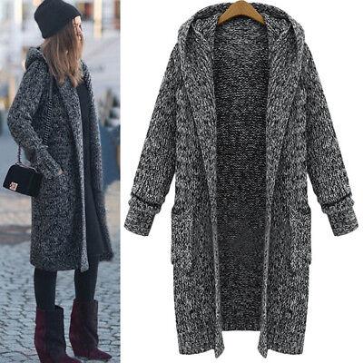 Women Winter Warm Long Sleeve Knitted Cardigan Coat Jacket Outwear Loose Sweater