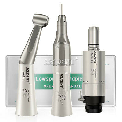 Dental Handpiece Kit Low Speed Contraangle Straight 2hole Airmotor Push Button