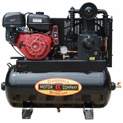 Gas Air Compressor 16hp Portable Work Truck Mount Commercial Repair E-start Key
