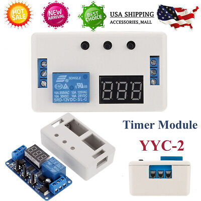Delay Timer Module With Case Pcb Board 12v Led Automation Switch Relay Us O6m6