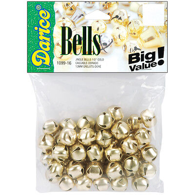 Darice Jingle Bells Gold 0.5 Inch