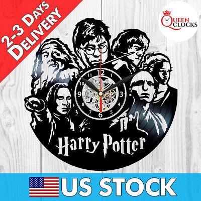 Harry Potter Wall Clock Dumbledore Voldemort Severus Snape Vinyl Best Gift Decor