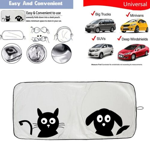 1PC Car Sunshade Sun Visor Windshield Block Cover (Front or Rear Windshield Use)
