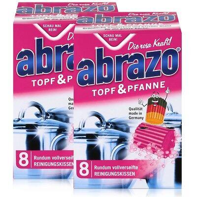abrazo Topf & Pfanne Reinigungskissen - Die rosa Kraft (2er Pack) (Reinigung Topf)