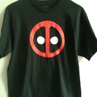 DEADPOOL  LOGO T-SHIRT XL BLACK ** NWOT **100% COTTON LICENSED MARVEL PRODUCT ](Deadpool Merchandise)