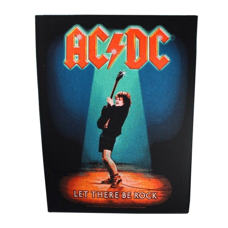 XLG AC/DC Let There Be Rock Back Patch Angus Young Music Jacket Sew On Applique