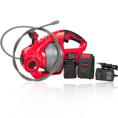 18v Cordless Portable Electric Plumbing Dredger Cleaner Drain Snake Auger Drill