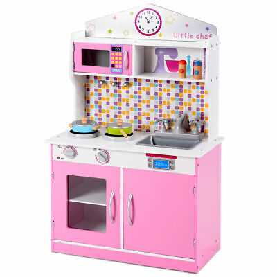 Pretend Cooking Playset Kids Gift Kitchen Toys Cookware Indo