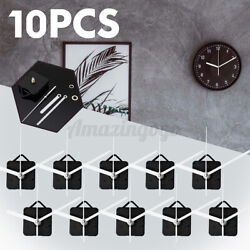 10PCS White DIY Quartz Wall Clock Movement Mechanism Repair Part Spindle Tool