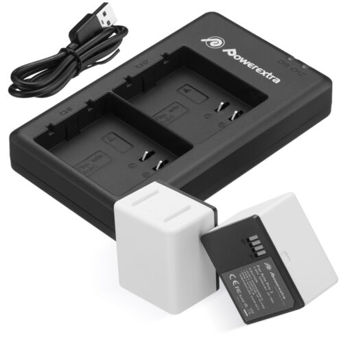 2Pack 5200mAh Battery + Smart LED Dual Charger For Arlo Ultra Arlo Pro 3 Camera
